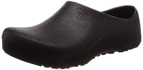 Birki Profi Birki 074011, Unisex - Erwachsene Clogs & Pantoletten, weites Fußbett, PU, schwarz (Black), EU 47