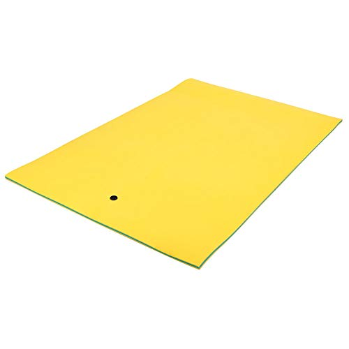 Outroad Water Floating Mat Roll-Up Pool Float Pad Recreation and Relaxing for Lakes, Oceans & Pools, Floating Foam Water Mat for Relaxing & Recreation, 18' x 6', Yellow