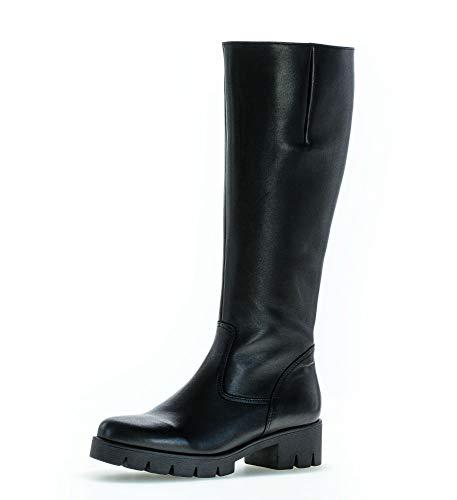 Gabor Damen Stiefel, Frauen Plateau Stiefel,Wechselfußbett,Best Fitting, lederstiefel langschaftstiefel,schwarz,37 EU / 4 UK