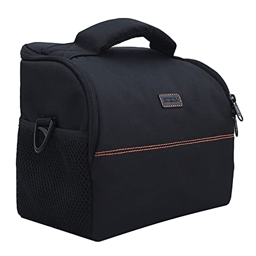 SIDRUM Waterproof Shoulder Camera Bag for DSLR | Crossbody Bag Case for Nikon, Canon, Sony SLR/DSLR Mirrorless Cameras | Waterproof Rain Cover Included (WF-18)