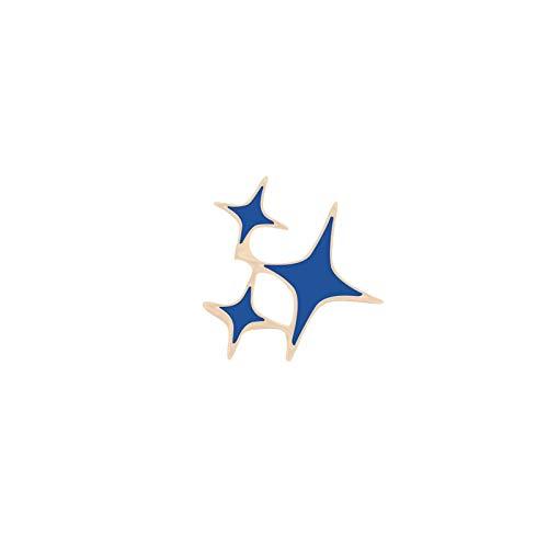 JWGD Niedliche Cartoon-Revers-Brosche aus Metall, Flugzeug-Blockflöte, Klebeband, Horn, Sterne, Denim-Abzeichen, Schmuck, Emaille, Anstecknadeln, Geschenk für Jungen und Mädchen (Größe: Sterne)