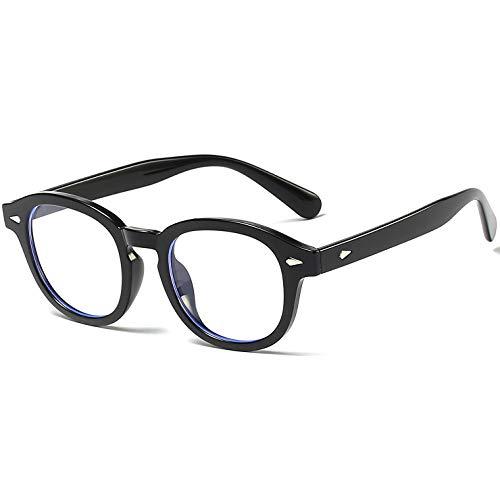 occhiali nerd SHEEN KELLY Vintage Occhiali rotondi Nerd Blocco della luce blu Occhiali anti luce blu Occhiali Uomo Donna Lente trasparente