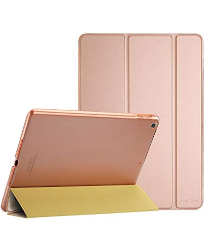ProCase iPad 9.7 Case 2018 iPad 6th Generation Case / 2017 iPad 5th Generation Case - Ultra Slim Lightweight Stand Case with Translucent Frosted Back Smart Cover for Apple iPad 9.7 Inch –Rose Gold