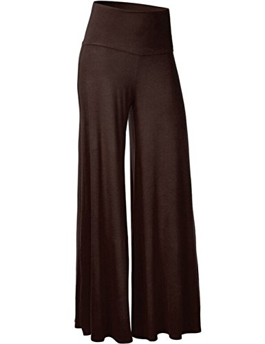 HAHAEMMA Pantalone Largo da Donna Pantaloni da Yoga a Vita Alta con Elastico Palazzo con Elastico
