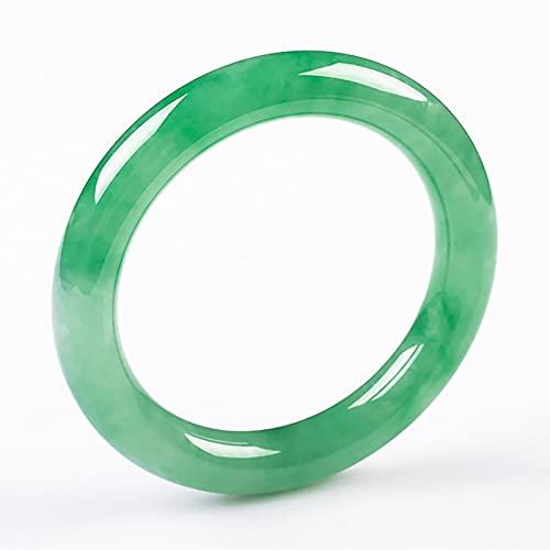 KNWSHT Brazalete De Jade para Mujer Energía Curativa Natural Buena Suerte Energía Verde Jadeíta Hecho a Mano Joyería para Mujeres