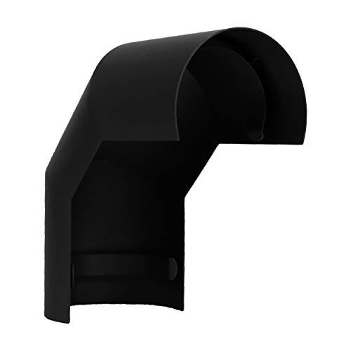 LANZZAS Ofenrohr Hitzeschutz/Thermoschild für einen 90° Grad Bogen, Montage oberhalb, im Durchmesser, DN Ø 150 mm, Farbe: schwarz-metallic - weitere Rohre aus unserem Sortiment, finden Sie hier.