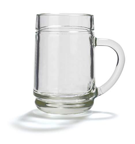 Stölzle Oberglas Weinkanne 0,25 l glatt- traditionelles Spritzerglas, Schorleglas, Weinstube, 6 Stück, spülmaschinenfest, hochwertige Qualität
