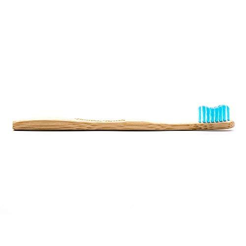 Humble Brush Cepillo de dientes de bambú para niños, ultra suave, azul, 10 piezas