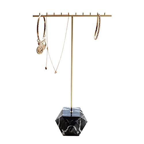 Colgador De Joyas Soportes Para Joyas Soporte De Exhibición De Joyas De Latón Ornamentos Creativos De Latón Anillos Pendientes Y Collares Soporte De Joyería ( Color : Black , Size : 20*37cm )