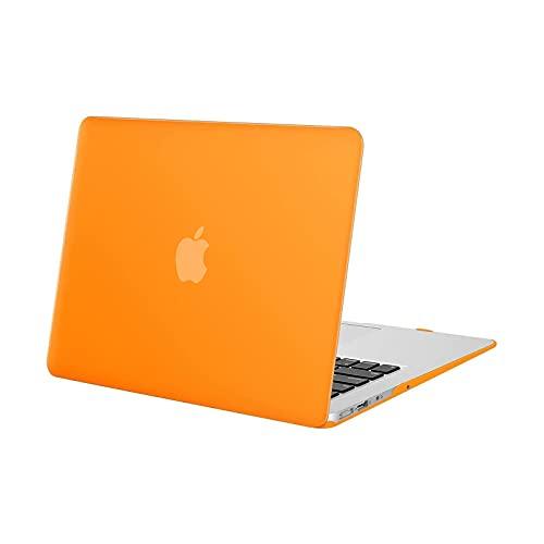 MOSISO Funda Dura Compatible con MacBook Air 13 Pulgadas (A1369 / A1466, Versión 2010-2017), Ultra Delgado Carcasa Rígida Protector de Plástico Cubierta, Naranja