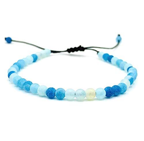LUCIL® - LAGOONA - Armband Achat Farbe: hellblau