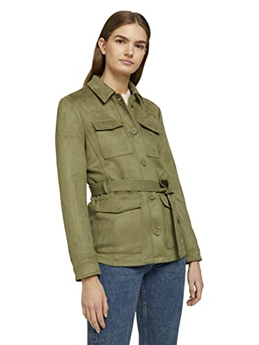 TOM TAILOR Denim 1024554 Fieldjacket Chaqueta, 26448 Dark Olive, S para Mujer