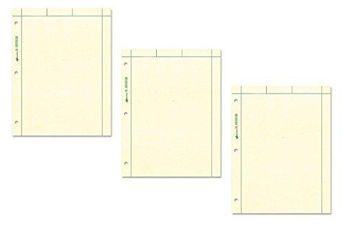 Nationaal merk Computatie Pad, Effen en 5 X 5 Quad Op Terug, Groen Papier, 8,5 x 11 Inch, 200 Vellen (42389) (3, Groen)