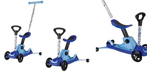 PLAYTIVE 4 in 1 Scooter Roller Kinder Roller Tretroller rosa JUNIOR Kleinkinder