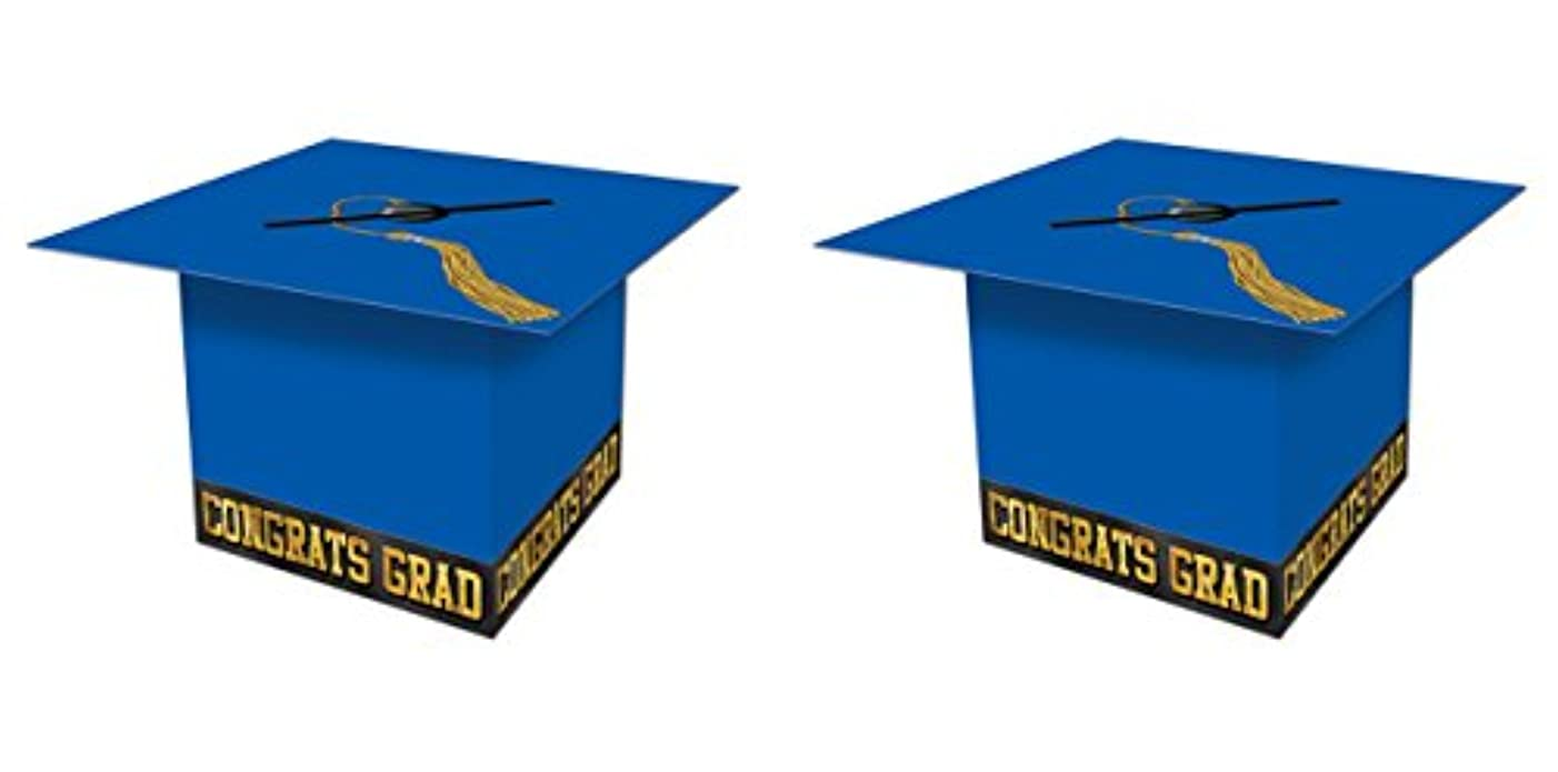 Beistle S57393BAZ2, 2 Piece Grad Cap Card Boxes, 8.5