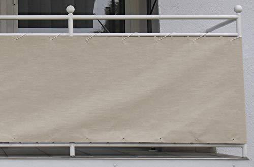 Angerer Style Toile de Balcon Sable 75 cm Hoch, 800 cm Lang Sable