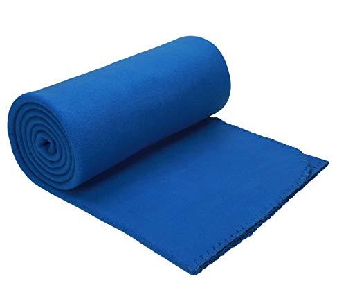 Betz Luxus Fleecedecke Kuscheldecke Größe 130x170 cm Farbe blau