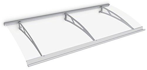 Schulte deurluifel Style-Plus, 200 x 90 cm, helder gebogen Polycarbonaat, RVS V2A, V1121-20-21
