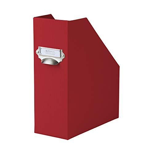 Rössler 1318452361 - S.O.H.O. Stehsammler A4 mit Griff und beschriftbarem Einsteckschild, 11,5 cm, rot