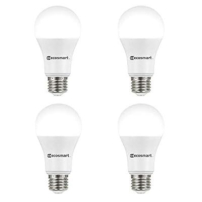 EcoSmart 100-Watt Equivalent A19 Non-Dimmable CEC LED Light Bulb Daylight (4-Pack)