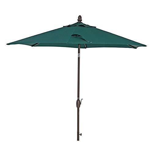 HYDT Sombrilla de Patio Sombrilla Portátil Al Aire Libre para Mesa de Jardín, Sunbrella de Patio de 9 Pies con Manivela Inclinable, Sombrilla de Mercado de Piscina sin Base