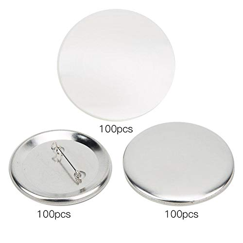 HEEPDD badge knoppen, 100 sets 56 mm blank badge make-up supplies voor badge corsage naamplaatjes kinderen DIY knutselbenodigdheden