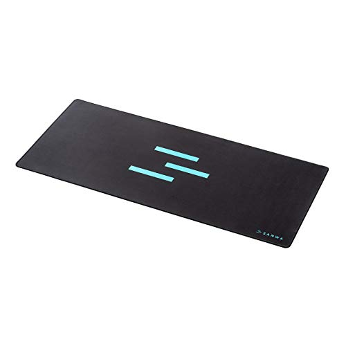 SANWA Extended Gaming Mouse Pad (37.4 x 16.54 x 0.12 in) Large Non-Slip Natural Rubber Base Mousepad with Durable Stitched Edges, Foldable Desk Mat for Computer, Laptop, Keyboard, Office & Home