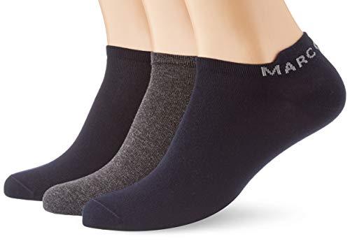 Marc O'Polo Body und Beach Herren 3er Pack Sneaker-Socken, Blau, 39/42