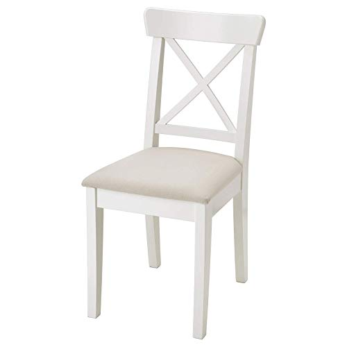 Finchley IKEA INGOLF silla, blanco/Hallarp beige