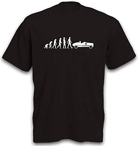 T-Shirt Evolution Seifenkiste Seifenkistenwagen Seifenkistenrennen Soap Box Pine Wood Car Gr. XL