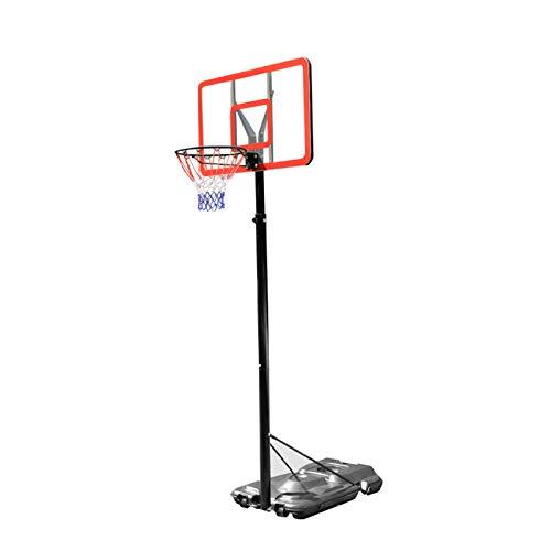 MYHZH Sistema De Tablero De Baloncesto Aro Portátil Desmontable del Aro De Baloncesto Y Objetivos Exterior/Interior con Altura Ajustable De Baloncesto Conjunto, para Adolescentes Juventud