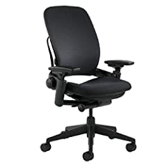 """Steelcase's no.1 selling ergonomic chair. livelumbar technology flexes with movements for ergonomic comfort. Item Dimensions: 24.75"""" L x 27"""" W x 43.5"""" H Liveback - mimics the natural spine shape throughout the workday. the leap chair's back changes i..."""