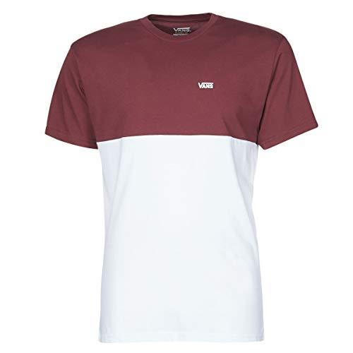 Vans Colorblock Tee T-Shirt, Port Royale/White, M Uomo