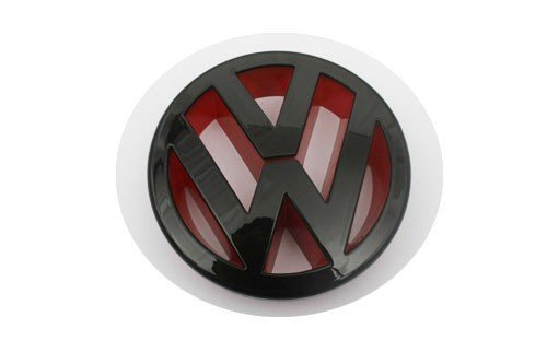 autobizpro Euro Style Gloss Black Red Inlay Front Grille Emblem for Volkswagen VW Golf MK5 Rabbit GTI 2.5 2.0T Jetta MK5 GLI