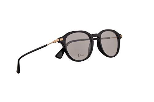Christian Dior Dioressence17 Brille 47-19-145, Schwarz mit Demo transparenten Gläsern 807 Essence17