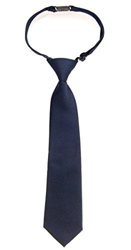 Retreez Jungen Gewebte vorgebundene Krawatte Einfarbig matt - marineblau - 4-7 Jahre