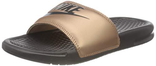 Nike Wmns Benassi JDI, Zapatos de Playa y Piscina Mujer, Multicolor (Mtlc Red Bronze/Thunder Grey 900), 36.5 EU