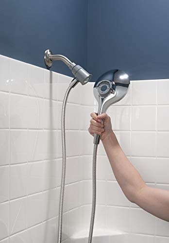 Moen 26112 Engage Magnetix Six-Function 5.5-Inch Handheld Showerhead with Magnetic Docking System, Chrome