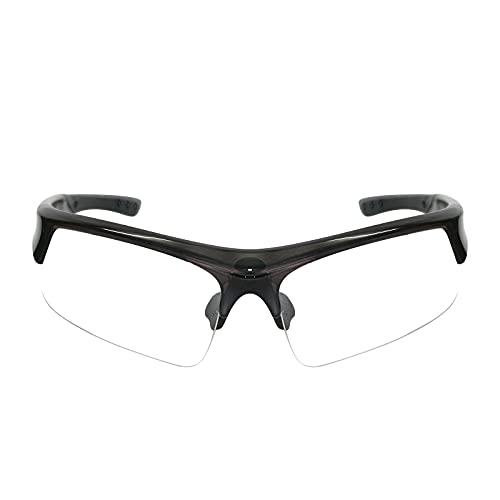 Funní Día Gafas de Seguridad Antivaho, TR90 Marco anti Arañazos, Gafas de Trabajo Gafas Protectoras para Adultos Unisex FD432-2