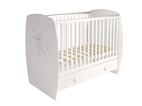 Polini Kids Babybett Kinderbett weiß 120x60 cm