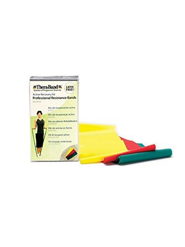 Theraband Latexfreie Übungsbänder im Set gelb/rot/grün, leicht