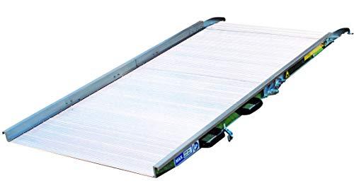 Rampa de carga de aluminio, móvil y plegable, 60 x 250 cm, con 300 kg de capacidad, apta tanto para discapacitados como para mercancías