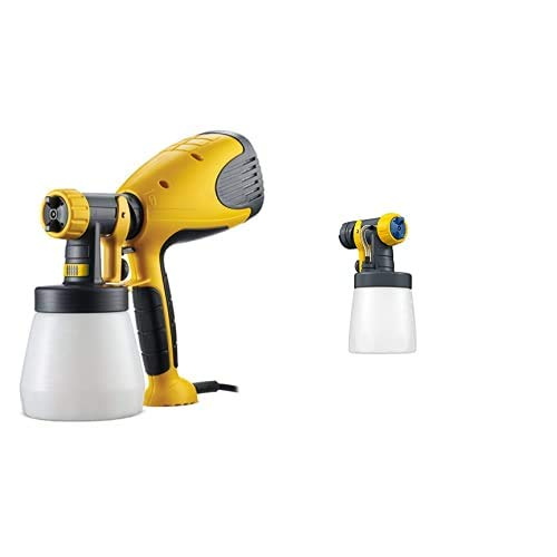 Wagner Wood y metal Sprayer W 100, 1 pieza, Negro y Amarillo + Frontal acabado brillante