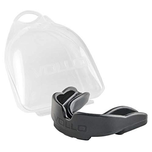 Protetor Bucal com Estojo, Vollo Sports, Preto