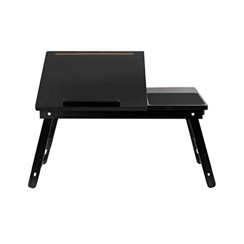 YO-TOKU Houten Lap Laptop Tafel tafel Inklapbare verstelbare hoek slaapbank Lazy (zwart) Vouwtafels