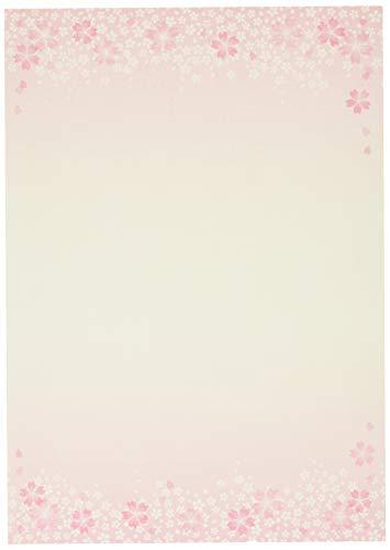 【Amazon.co.jp 限定】和紙かわ澄 桜 和風 便箋 桜舞 B5判 50枚入