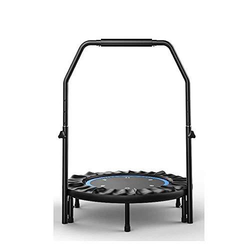Fitness Trampoline Met Verstelbare Armleuningen, Volwassen/kind Binnen 40-inch Mini Trampoline - Maximale belasting 200KG Indoor Trampoline