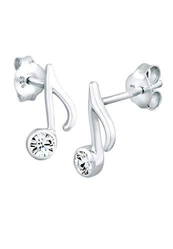 Elli Ohrringe Note Musik Melodie Swarovski® Kristalle Silber