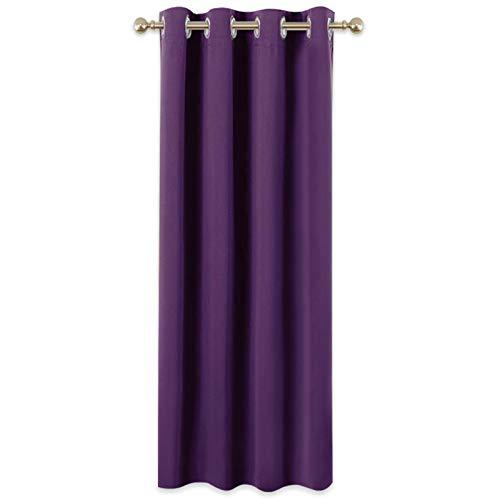 PONY DANCE 1 Stück Verdunklungsgardine Violett - H 180 x B 140 cm Vorhang Blickdicht Ösenschal Thermovorhänge für Kinderzimmer & Schlafzimmer Gardinen