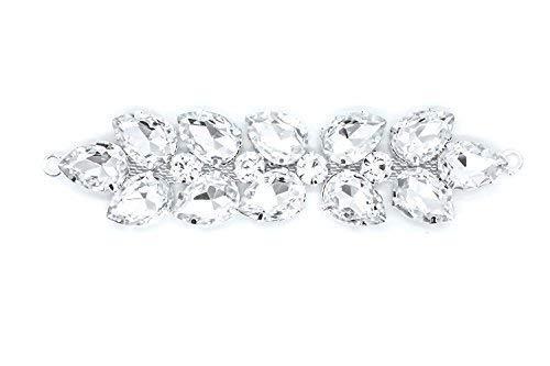 Trimming Shop Strass Strass Kristalle Aufnäher Applikation für Braut Hochzeit Kleid, Freizeit oder Formell Kleidung Mode Accessoires 120mm X 30mm Ca Patch Nr. A127